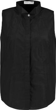 Amanda Wakeley , Cotton Poplin Top Black