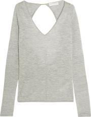 Amanda Wakeley , Cutout Cashmere Sweater Gray