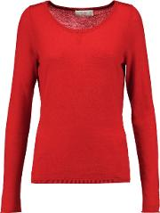 Amanda Wakeley , Cutout Embroidered Cashmere Sweater Large