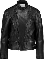 Amanda Wakeley , Onishi Textured Leather Jacket Black