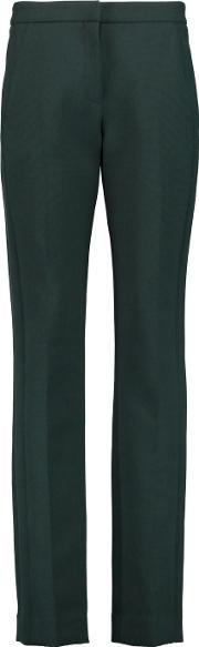 Amanda Wakeley , The Asayii Stretch Knit Tapered Pants Emerald