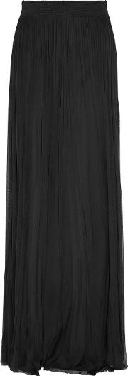 Amanda Wakeley , The Nakai Plisse Silk Tulle Maxi Skirt Black