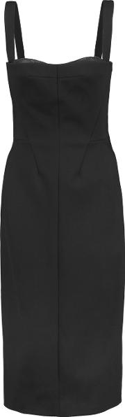 Amanda Wakeley , Tsuchi Cutout Pique Midi Dress Black
