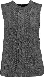 Autumn Cashmere , Cable Knit Vest Charcoal