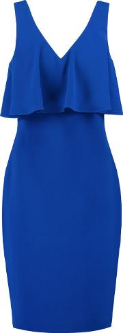 Badgley Mischka , Layered Crepe Dress Royal Blue