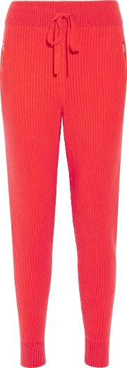 Baja East , Ribbed Cashmere Tapered Pants 0