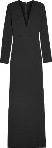 Calvin Klein Collection , Stretch Crepe Gown Black
