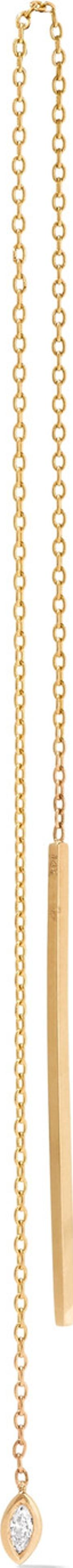 Carbon & Hyde , Marquis 14 Karat Gold Stone Earrings One Size