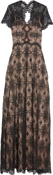 Catherine Deane , Gizela Guipure Lace Gown Black