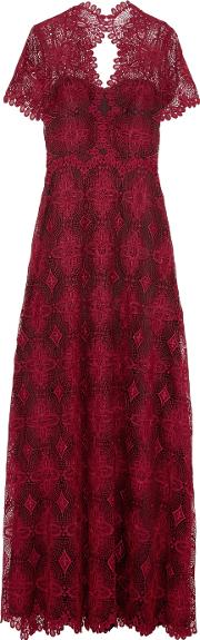 Catherine Deane , Gizela Guipure Lace Gown Burgundy
