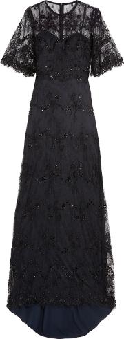 Catherine Deane , Grazia Embellished Tulle Gown Black