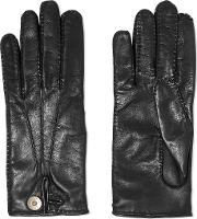 Causse Gantier , Honorine Leather Gloves Black