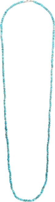 Chan Luu , Sterling Silver Beaded Necklace Turquoise