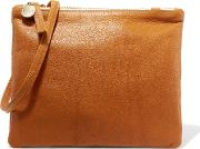 Clare V , Bretelle Textured Leather Shoulder Bag Camel