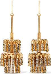 Elizabeth Cole , Jayne Gold Tone Crystal Earrings One Size