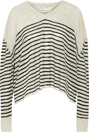 Etoile Isabel Marant , Daphne Striped Stretch Knit Sweater Cream