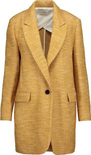 Etoile Isabel Marant , Iron Wool And Cotton Blend Coat Saffron
