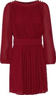 Etoile Isabel Marant , Karla Gathered Voile Dress Claret