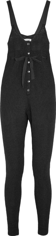 Etoile Isabel Marant , Lowell Knitted Wool And Alpaca Blend Jumpsuit Black