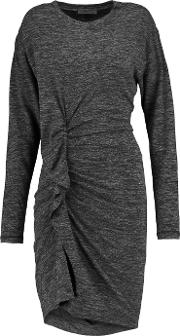 Etoile Isabel Marant , Madelia Ruched Stretch Jersey Mini Dress Anthracite