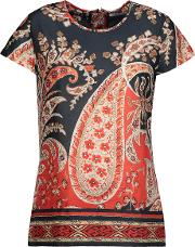 Etoile Isabel Marant , Printed Cotton Broadcloth Top Multi