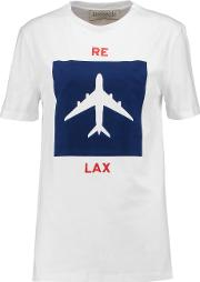 Etre Cecile , Relax Flocked Cotton Jersey T Shirt White