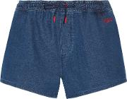Etre Cecile , Running Cotton Chambray Shorts Mid Denim