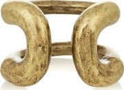 Giles & Brother , Cortina Burnished Gold Tone Ring 6