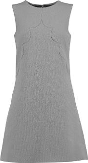Goat , Neve Wool Crepe Mini Dress Gray