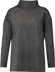 Goat , Wool Blend Turtleneck Top Dark Gray