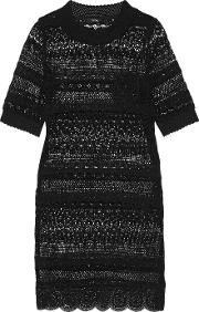 Goen J , Broderie Anglaise Cotton Dress Black