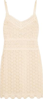 Goen J , Cotton Lace Mini Dress Ivory