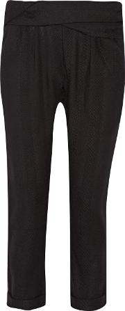 Hatch , The Woven Ipek Draped Cotton Twill Tapered Pants Black