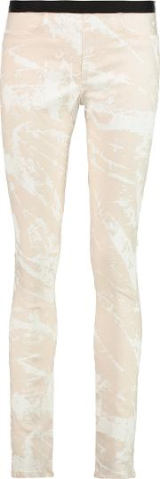 Helmut Lang , Printed Twill Skinny Pants Off White