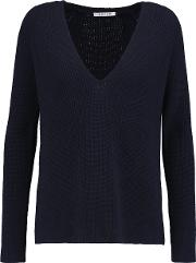 Helmut Lang , Ribbed Wool And Cashmere Blend Sweater Midnight Blue