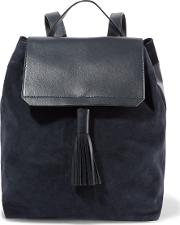 Iris And Ink , Leather And Suede Backpack Navy
