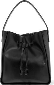 Iris And Ink , Leather Tote Black