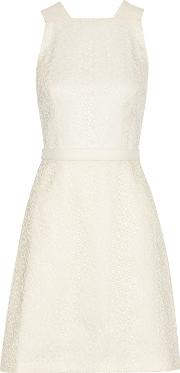 Jason Wu , Embroidered Lace And Cotton Blend Dress Ivory