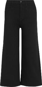 Jcrew , J.crew Rayner Cropped High Rise Wide Leg Jeans Black