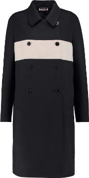 Jil Sander , Double Breasted Wool And Cashmere Blend Coat Storm Blue
