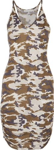 Kain , Rica Ruched Printed Stretch Jersey Dress Multi