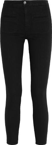 Kate Moss For Equipment , Warren Stretch Twill Skinny Pants Black