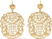 Kenneth Jay Lane , Gold Plated Earrings One Size