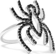 Khai Khai , Spider 18 Karat White Gold Diamond Ring Black