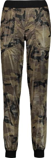 Koral , Printed Shell Track Pants Army Green
