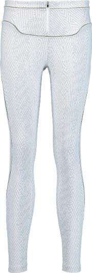Koral , Printed Stretch Jersey Leggings White