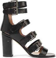 Laurence Dacade , Dana Buckled Leather Sandals Black
