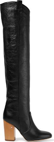 Laurence Dacade , Silas Crinkled Leather Over The Knee Boots Black