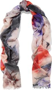 Lily And Lionel , Connie Printed Modal And Silk Blend Scarf Multi