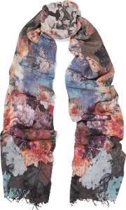 Lily And Lionel , Gloria Printed Modal And Cashmere Blend Scarf Multi